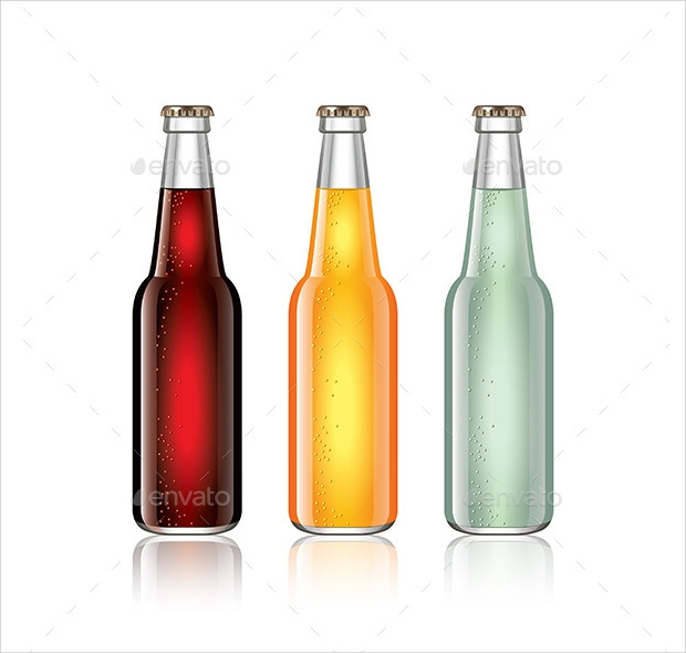 soda bottle vector illustration