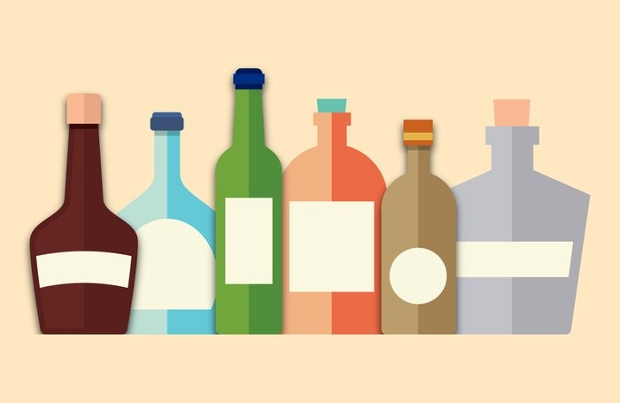 glass bottle free vector