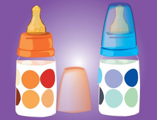 baby milk feeding bottle vector
