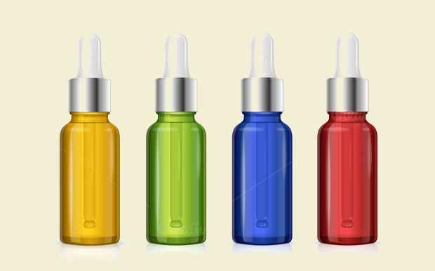 dropper bottle colorful vector