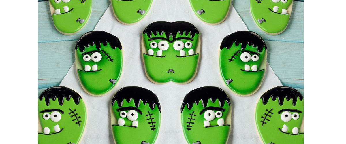 Frankenstein Face Cookies