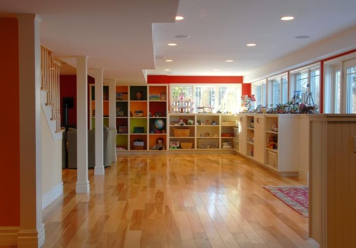 Large Kids Playroom Storage Idea