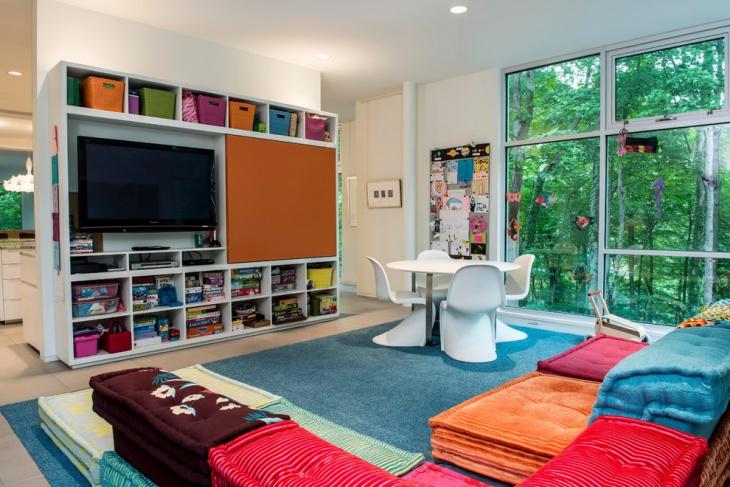 Kids Playroom Decor Storage Idea