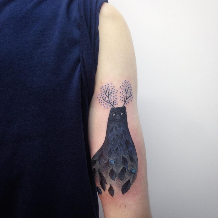 Gothic Blueberry Tattoo