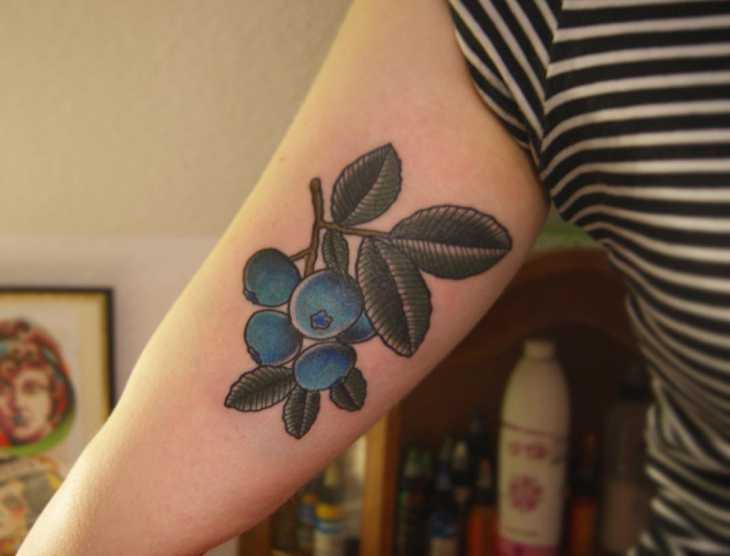 Blueberry Tattoo for Sleeve