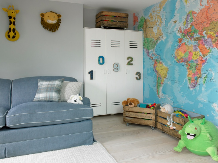 traditional kids room storage box