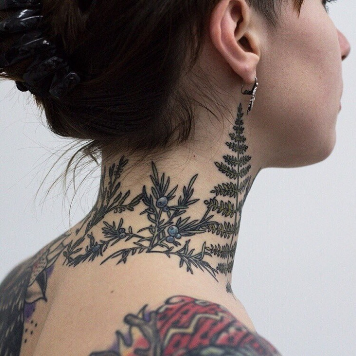 Blueberry Neck Tattoo Idea