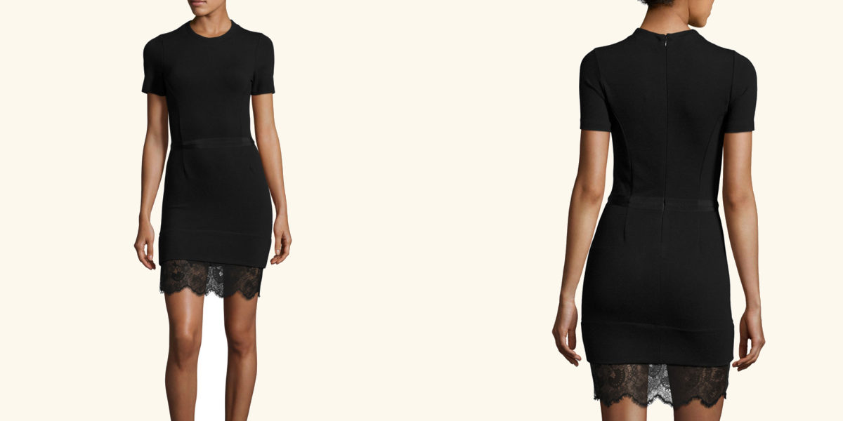 carven-short-sleeve-ponte-lace-trim-sheath-dress