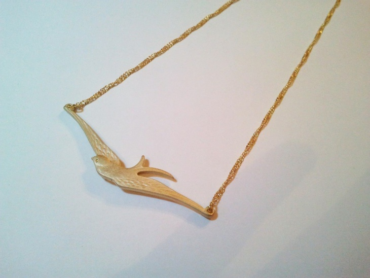 vintage bird pendant