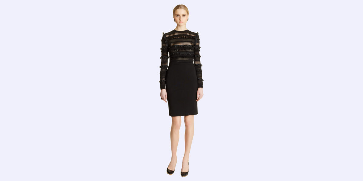 ruffle-black-dress-by-oscar-de-la-renta