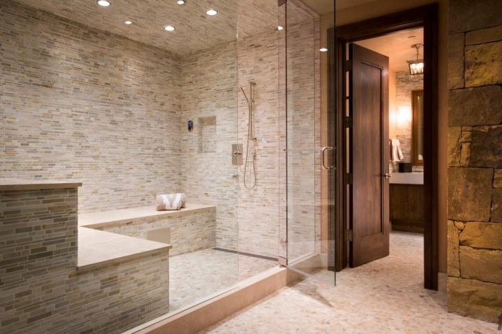 Ordinary Steam Room Design Ideas Part - 1: Steam Shower Tile Idea