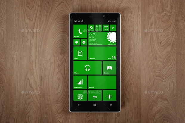 High Resolution Windows Phone Mockup