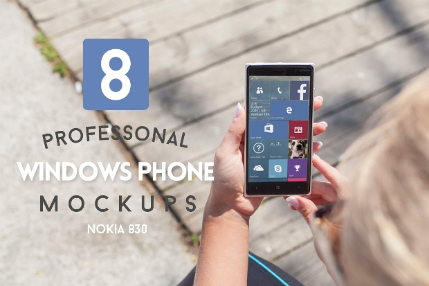 Colorful PSD Windows Phone Mockup