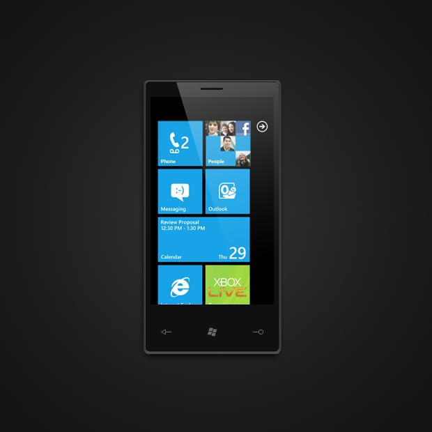 Free Windows Smart Phone PSD Mockup