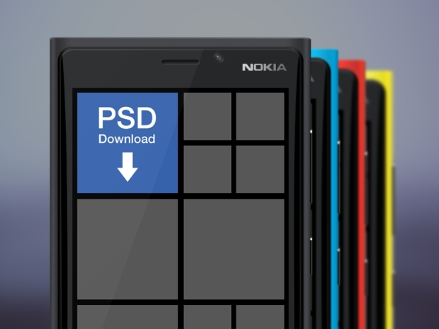 Windows PSD Mobile Mockup