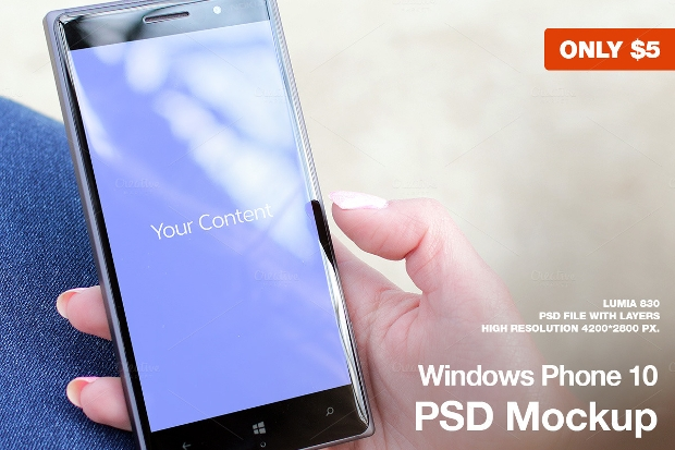 High Quality Windows Phone Mockup