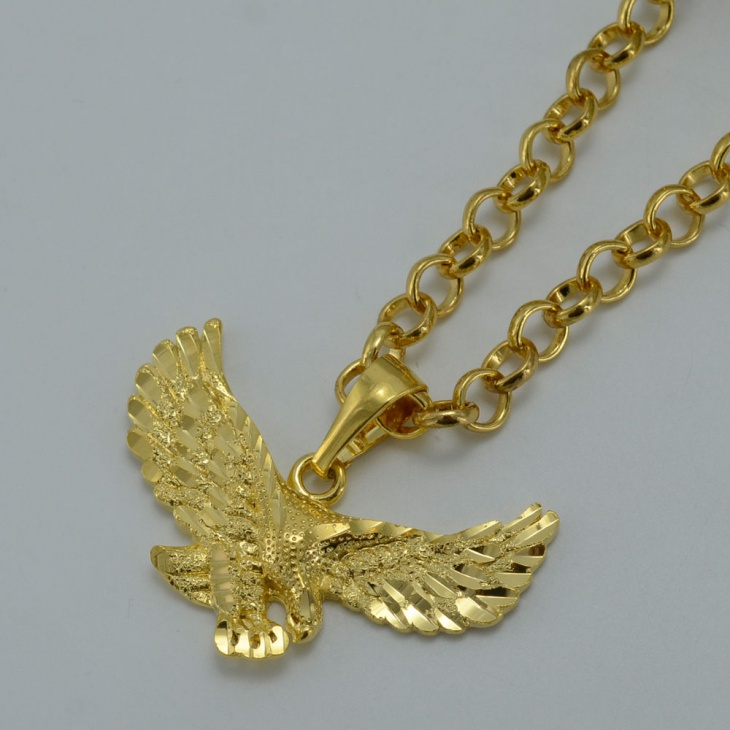 Gold Plated Eagle Pendant Necklace