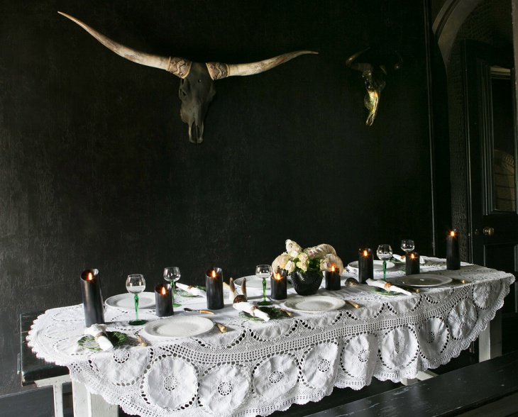 black gothic dining room