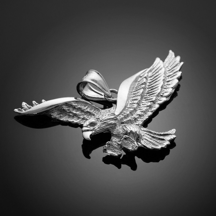 silver flying eagle pendant1