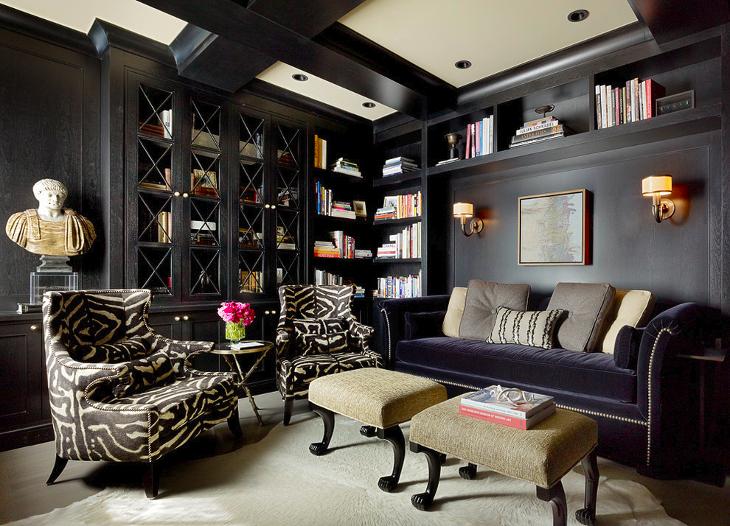 Black Corner Shelf Idea