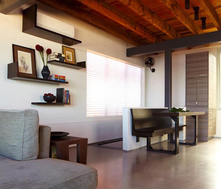 Tinny shelves interior design