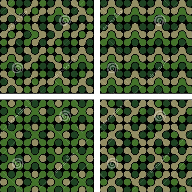 funky camo pattern design