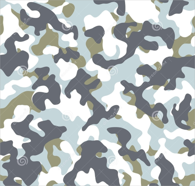 winter camo seamless pattern