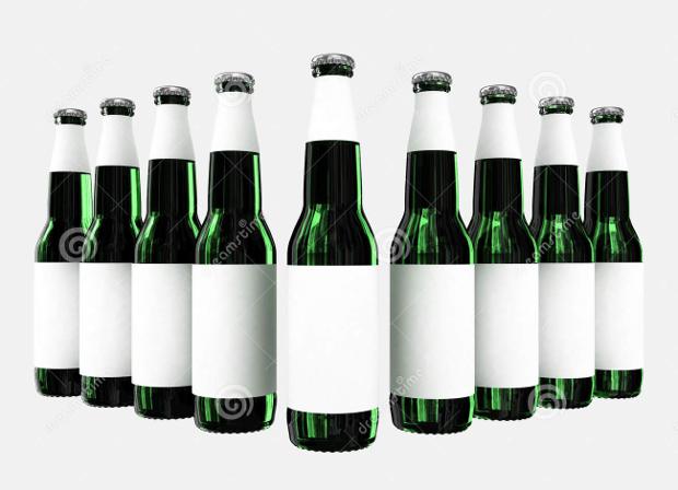 blank beer label