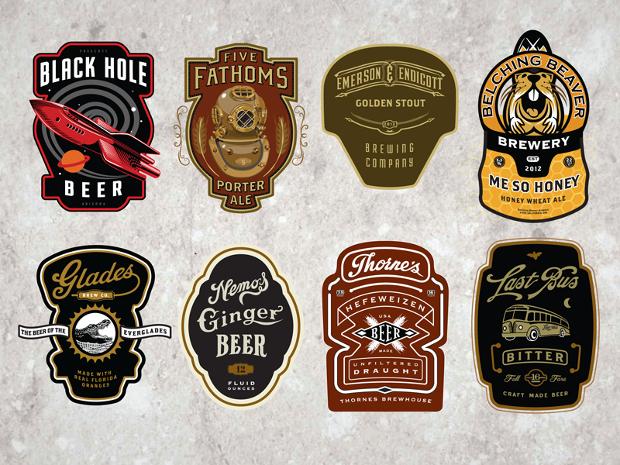 cran beer label design
