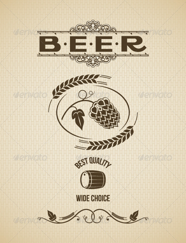 High Quality Beer Label Design