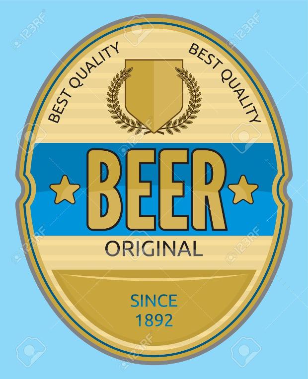 round beer label design