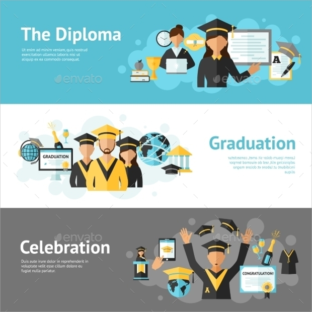 16 graduation banners psd ai vector eps design trends