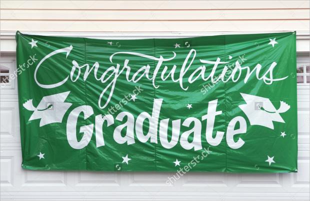green graduation banner