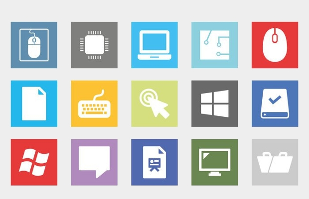 Flat Computer Accessories Icons