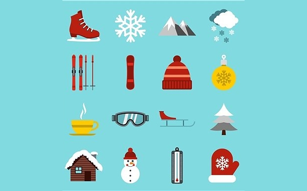 flat-winter-icons