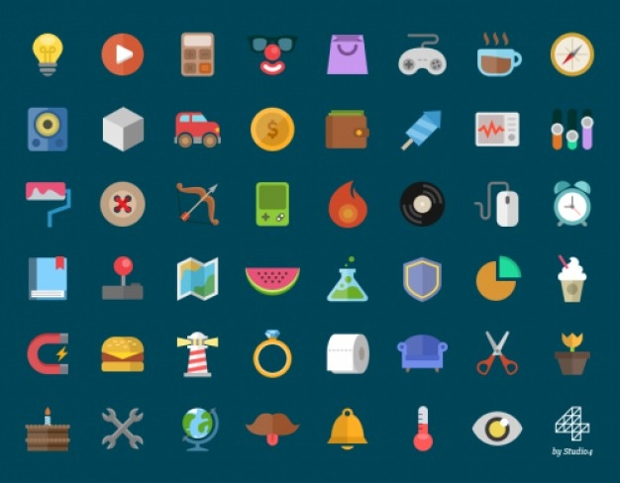 Multicolor Flat Icons