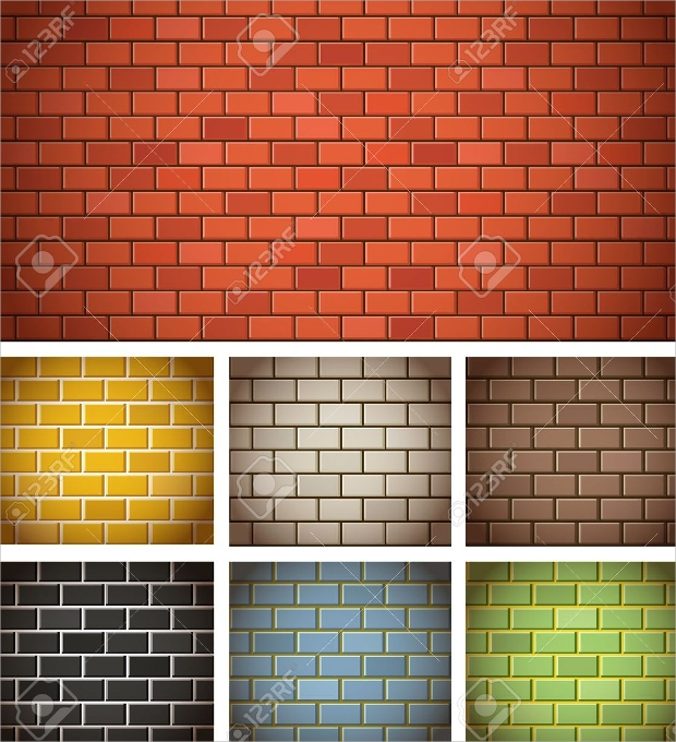 colorful brick texture