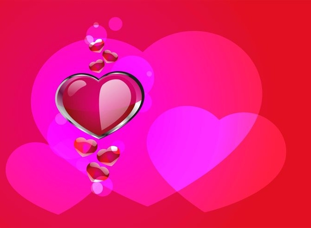 Glossy Heart Vector Design