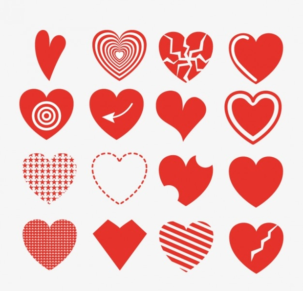 Red Artistic Heart Vector