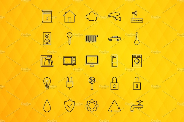 home line art icons