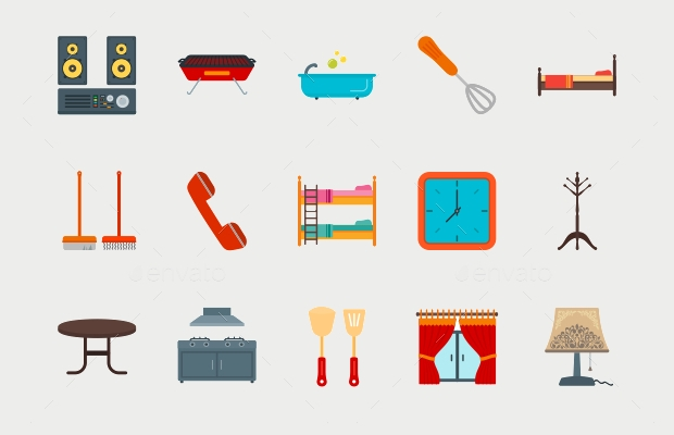 Flat Home Icons