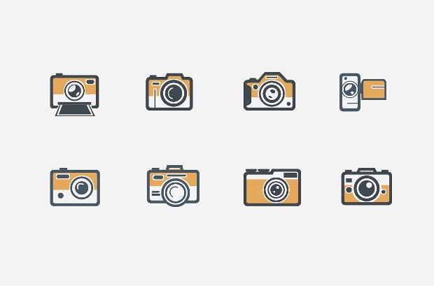 Retro Camera Icons