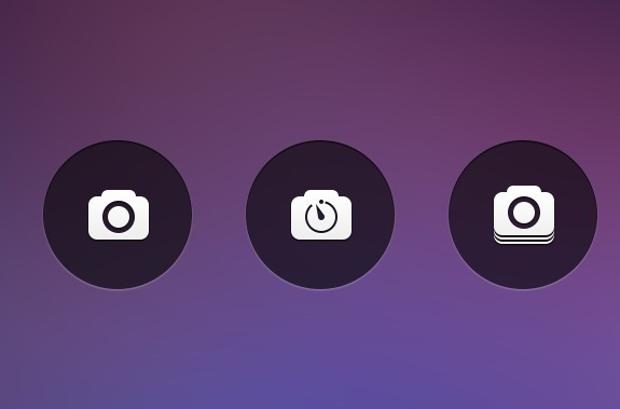 Circular Camera Icons