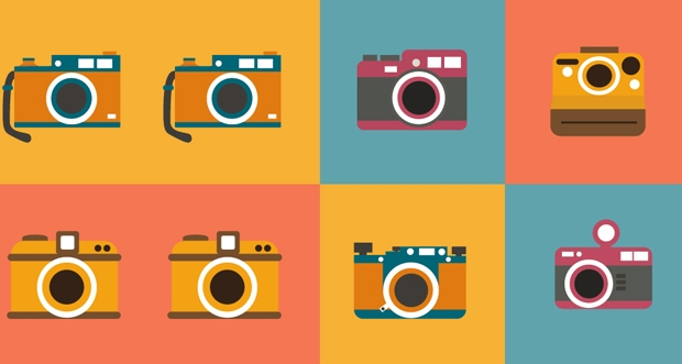 Colorful Camera Icons