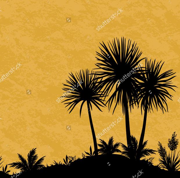 grunge tree silhouette