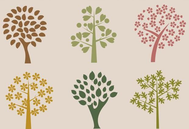 organic tree silhouette