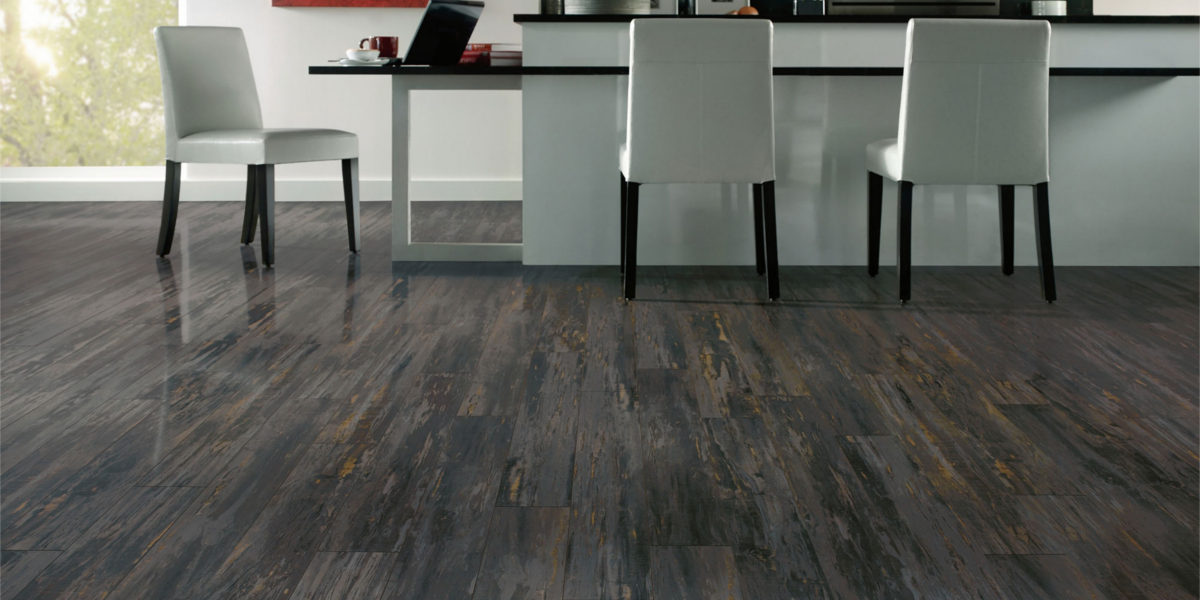 Staining Wood Flooring Distressed Wood Look Created By Hitting Bag