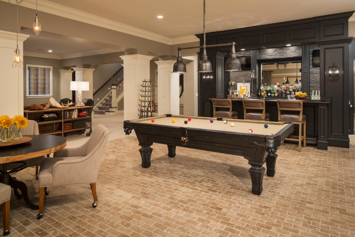 traditional home bar basement design