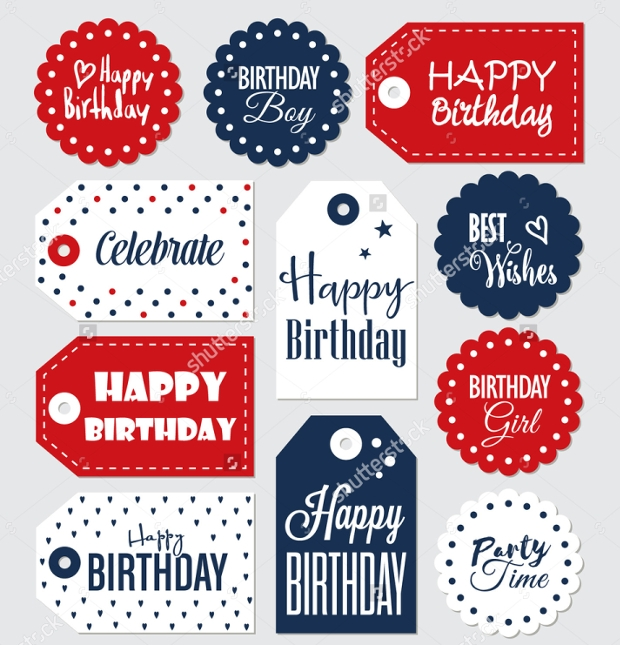 Birthday Gift Tag Design