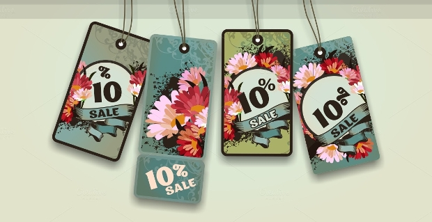 Retro Sale Hang Tag Design